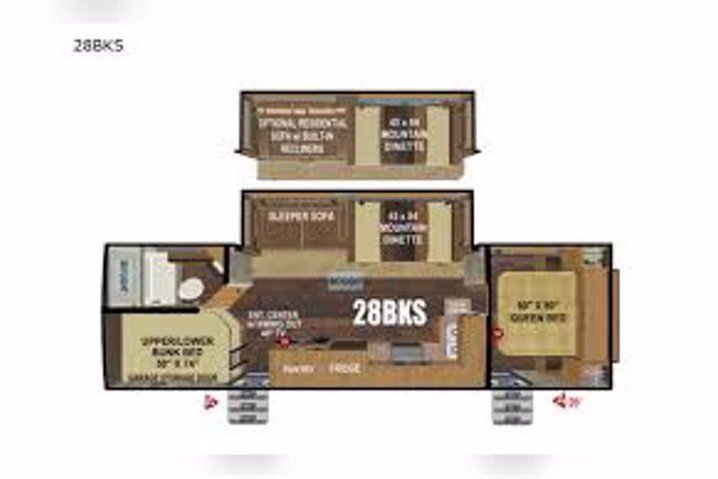 2022 OUTDOORS RV TIMBER RIDGE 28BKS